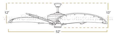 Nautical Ceiling Fan Dimensions