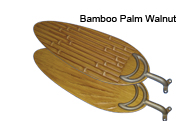 Walnut Bamboo Leaf Blades