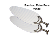Pure Whie Bamboo Palm Blades