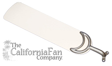 Pure White Ceiling Fan Blade
