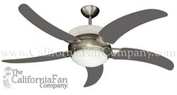 Sunrise Contemporary Ceiling Fan Satin Steel w/ 56